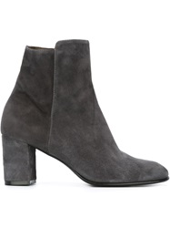 Jean Michel Cazabat Chunky Heel Ankle Boots Grey