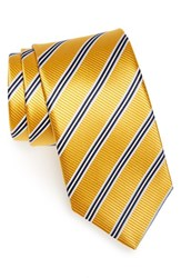 Men's J.Z. Richards Stripe Silk Tie Yellow