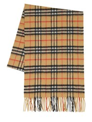 Burberry Classic Check Cashmere Scarf Antique Yellow