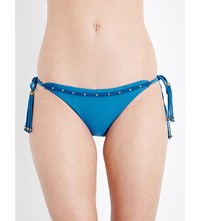 Vix Swimwear Bohemian Tie Side Bikini Bottoms Teal