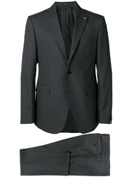 Tagliatore Fitted Formal Suit Grey
