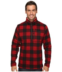 The North Face Novelty Gordon Lyons 1 4 Zip Cardinal Red Grizzly Print Men's Fleece