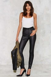 Nasty Gal Scallywags Coated Skinny Jeans