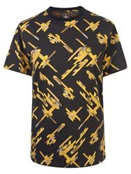 Pretty Green Men's Kirby Crew Neck T Shirt Yellow