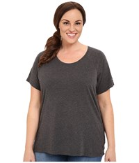 Columbia Plus Size Silver Ridge Zero Short Sleeve Shirt Shark Heather Women's Short Sleeve Pullover Gray