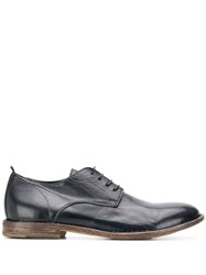 Moma Distressed Oxford Shoes Blue