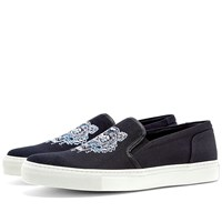 Kenzo Tiger Skate Slip On Sneaker Black