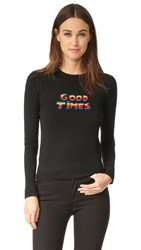 Bella Freud Sparkle Good Times Cashmere Sweater Black