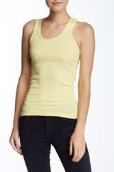 American Apparel Ribbed Tank Yellow