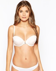 New Look Lace Back Strapless Bra Oatmeal