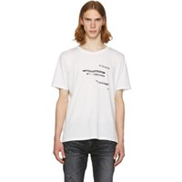 Saint Laurent White 'Sorry For What I Said' T Shirt