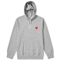 Comme Des Garcons Play Pullover Hoody Grey