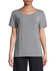 French Connection Scoopneck Hi Lo Tee Light Grey