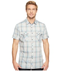 Kuhl Konquer S S Stone Men's Short Sleeve Button Up White
