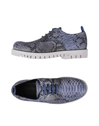 Emporio Armani Lace Up Shoes Blue