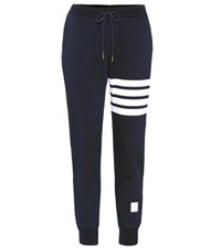 Thom Browne Striped Cotton Trackpants Blue