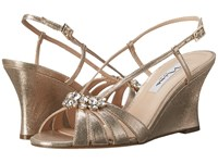 Nina Viani Taupe Women's Wedge Shoes
