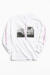 Urban Outfitters Uo Artist Editions William Keihn Sft Limits Long Sleeve Tee White