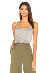 Chaser Strappy Scoop Neck Cami Gray