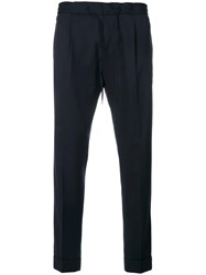 Paolo Pecora Cropped Trousers Blue