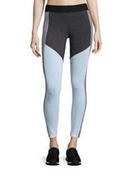 Heroine Sport Colorblock Racing Leggings Charcoal