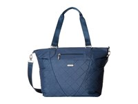 Baggallini Quilted Avenue Tote With Rfid Wristlet Slate Quilt Tote Handbags Blue