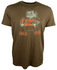 '47 Brand Men's Cleveland Browns Retro Logo Scrum T Shirt