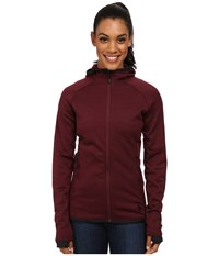 Black Diamond Compound Hoodie Merlot Women's Sweatshirt Red