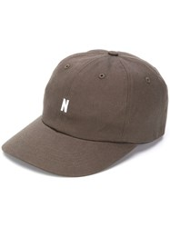 Norse Projects Embroidered Logo Cap Green