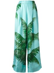 F.R.S For Restless Sleepers Tropical Print Trousers Blue