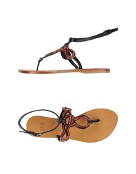 Jfk Footwear Thong Sandals Women Black