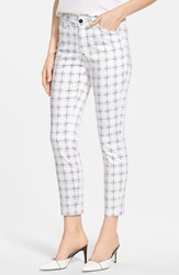 Nydj 'Clarissa' Print Stretch Ankle Skinny Jeans Regular And Petite Polka Dot Grid