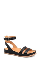 Women's Kork Ease 'Audrina' Ankle Strap Sandal Black Leather