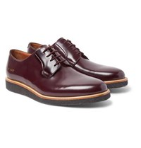 Common Projects Polished Leather Derby Shoes Burgundy