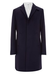 Mr. Start Drysdale Wool And Cashmere Coat Navy Blue
