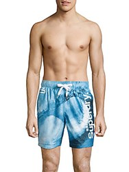 Superdry Drawstring Beach Shorts Blue