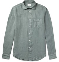 Hartford Paul Linen Shirt Gray Green