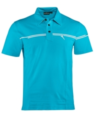 Chervo Achille Plain Polo Regular Fit Polo Shirt Blue