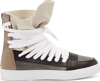 Krisvanassche Beige Leather Classic Multi Laces Sneakers