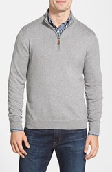 Nordstrom Men's Big And Tall Quarter Zip Sweater Grey Heather