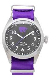 Jack Mason Brand 'Kansas State University Wildcats' Nato Strap Watch 44Mm Purple Black