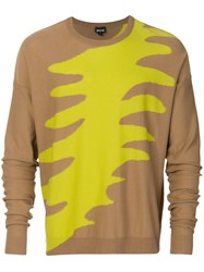Just Cavalli Colour Weave Sweatshirt Nude And Neutrals