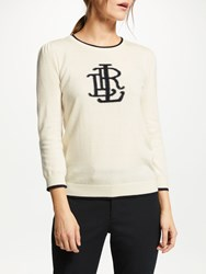 Ralph Lauren Alcott 3 4 Sleeve Sweatshirt Mascarpone Cream Polo Black