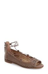 Lucky Brand Women's Geenee 2 Ghillie Sandal Brindle Leather