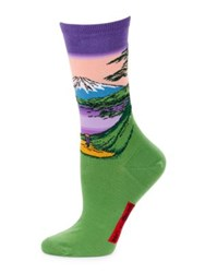 Hot Sox Mountain View Socks Violet