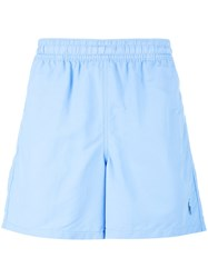 Polo Ralph Lauren Embroidered Logo Swim Shorts Blue