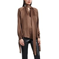 Juan Carlos Obando Washed Satin Blouse Lt. Brown Lt.Brown