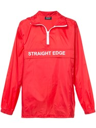 Andrea Crews Straight Edge Wind Breaker Red