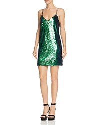 Guess Marlee Sequined Slip Dress Blue Green