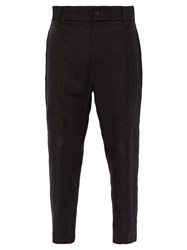 Ann Demeulemeester Tapered Hemp Trousers Black